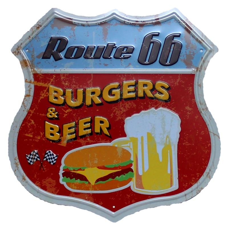 ROUTE 66Restaurant Μπύρα Μπύρας Καφέ Μέταλλο - Διακόσμηση σπιτιού - Φωτογραφία 5