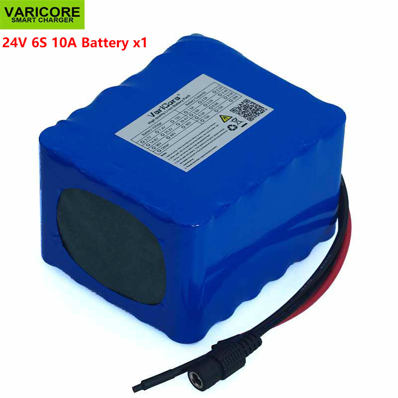 VariCore 24V 10Ah 6S5P 18650 Battery li ion battery 25 2v 10000mAh Electric bicycle moped Electric