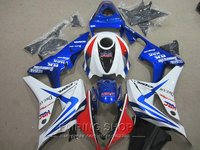 White blue For Honda fairings cbr600rr 2007 2008 CBR 600RR 07 08 free EMS Fairing kit GO15