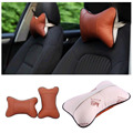 New 1pc Breathable soft Hole-digging Auto Waist Cushion Seat Head Neck Rest  Pad Car Headrest Pillow coffee color hot selling