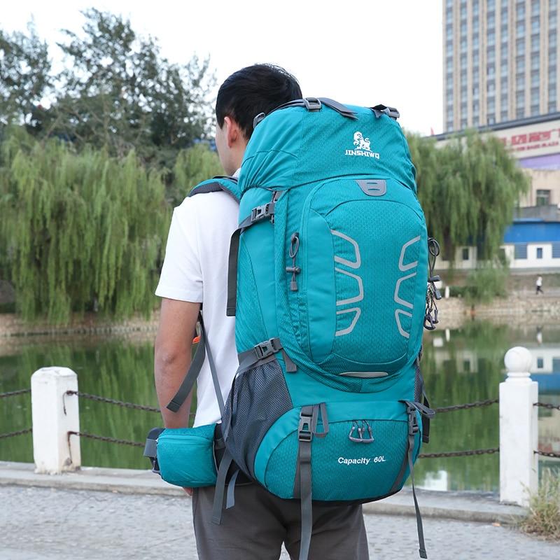 60L escalada impermeable senderismo mochila al aire libre de las mujeres y los hombres bolso Camping montañismo mochila bicicleta deporte bolsas de viaje - 5
