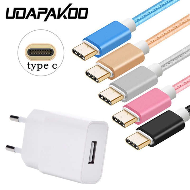 For <font><b>Samsung</b></font> Galaxy S9 A50 A3 <font><b>A7</b></font> A5 2017 Nokia 8 HTC 10 EVO U11 Travel EU <font><b>Charger</b></font> Adapter 2M Short Quick charge USB Type C Cable image