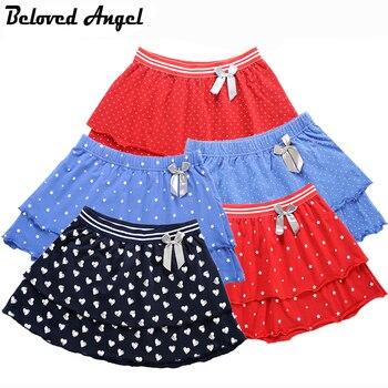 Beloved Angel 1-16 Y Girls Skirt Latest 5 Style Cotton Double Layer Skirts Kids Princess TUTU Skirt Children Dance Party Skirts Юбка