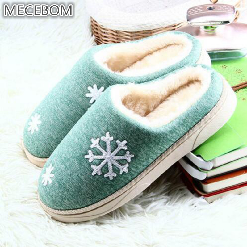 Women Winter Warm Fur Slippers Women Slippers Cotton Sheep Lovers Home Slippers Indoor Plush Size House Shoes Woman TX006W
