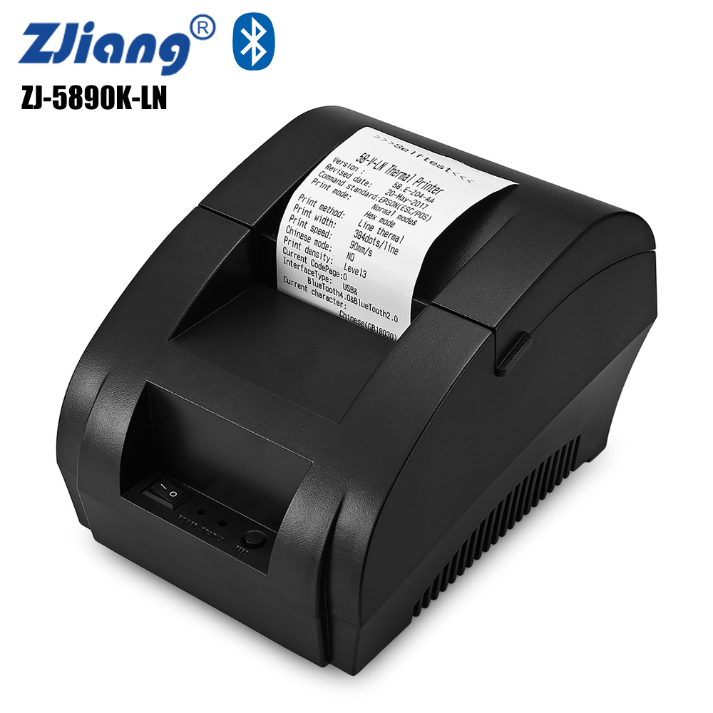 ZJIANG ZJ - 5890K - LN 58mm Wireless Thermal Printer Bluetooth Ticket Receipt Printing Machine USB Port for Android iOS bluetooth wireless 58mm thermal dot receipt printer usb serial port android pc compatible