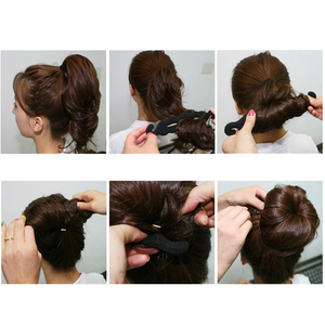 Image 5 - Hair Accessories for Women Hair Braiding Tools Magic Sponge Braiders Hairdisk Donut Quick Messy Bun Updo Headwear Styling Tools