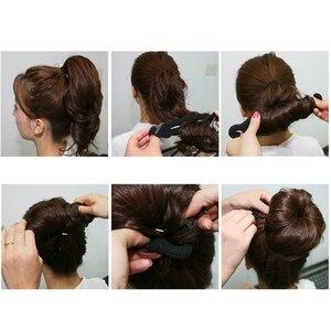 Image 5 - נשים שיער קולעת כלים קסם ספוג קליעת Hairdisk סופגנייה מהיר מבולגן Bun תסרוקת גבוהה בארה סטיילינג כלים