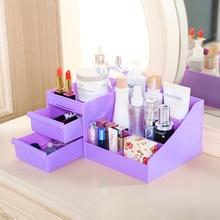 Multi-function Creative plastic desktop drawers simple finishing box, cosmetic storage box 30.5*18.5*13cm