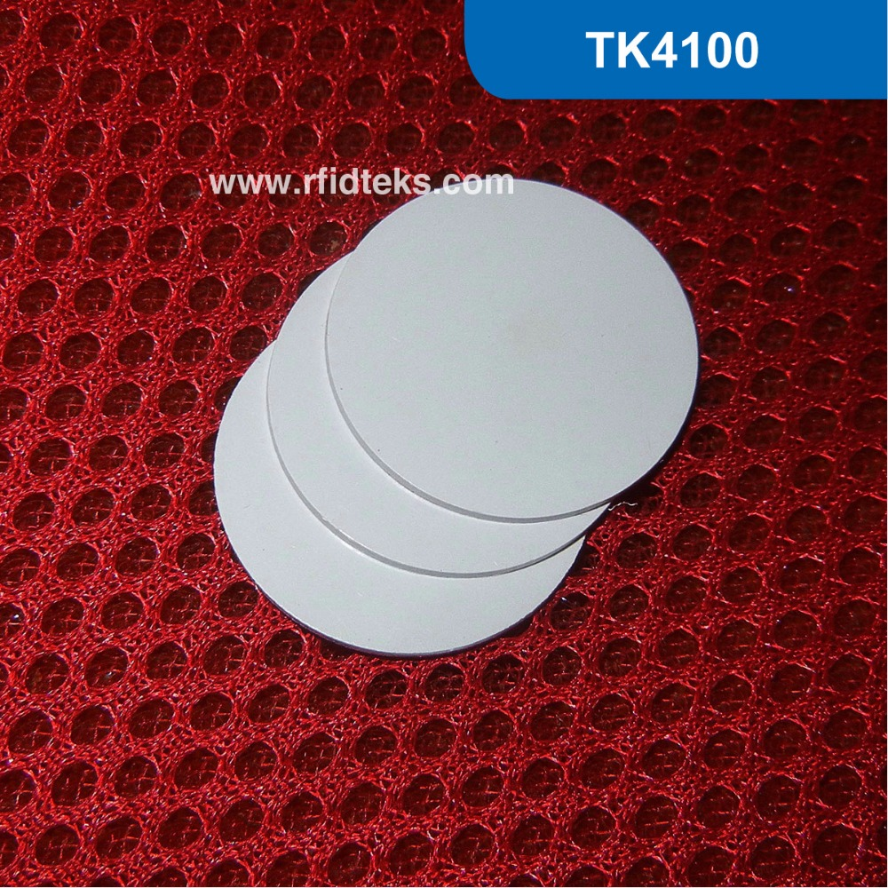 CT 25MM RFID Tag for access control, RFID PVC Token for asset management, RFID PVC tag 125KHz with TK4100 Chip corporate real estate asset management