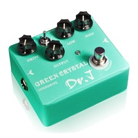 Dr J Overdrive Electric Guitar Effect Pedal Hand Made Overdrive True Bypass D50 Green Crystal
