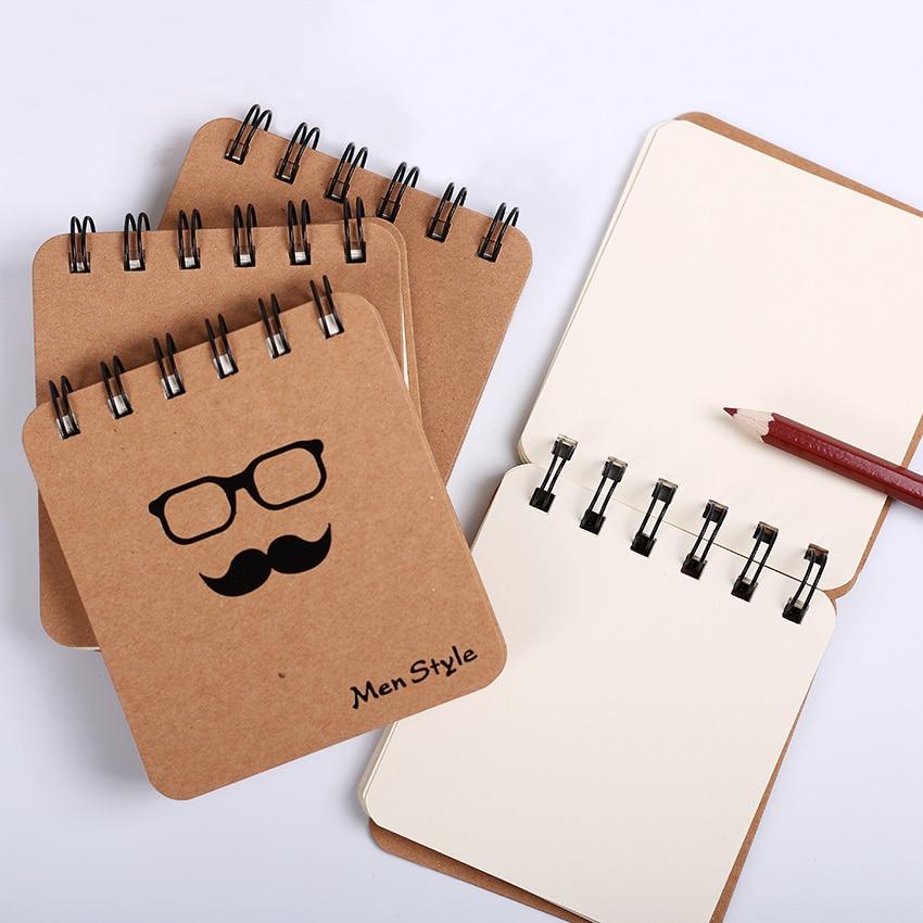 1 Stück Schnurrbart Spule Notebook Büro Schreibwaren Tagebuch Planer Notizblock Für Schule Studenten Kreative Geschenk üBerlegene Leistung Notebooks
