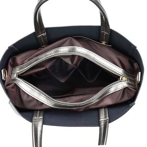Image 5 - Solid Large Capacity Women Bags Casual Tote Women Pu Leather Handbags Ladies Shoulder Bags Set Bolsa Feminina Black Silver Gold