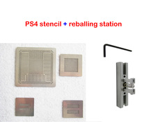 Best combination 4pcs/lot Direct Heat PS4 stencils with direct Reballing Station BGA