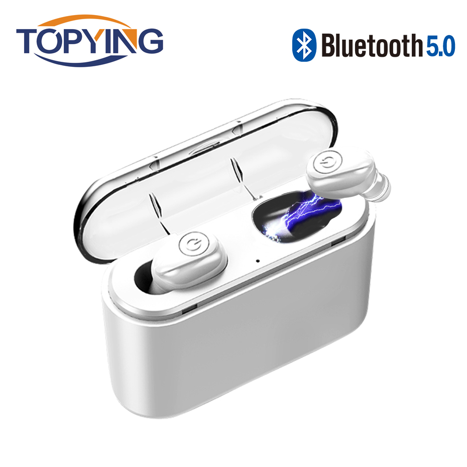 Wireless Headphones <font><b>Bluetooth</b></font> <font><b>Earphone</b></font> Mini Earbuds <font><b>TWS</b></font> 5.0 Handsfree Headset Life Waterproof with Mic for Phones Xiaomi Samsung image