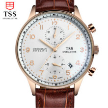 Mens Watches Top Brand Luxury TSS Men Military Sport Luminous Wristwatch Chronograph Leather Quartz Watch relogio masculino