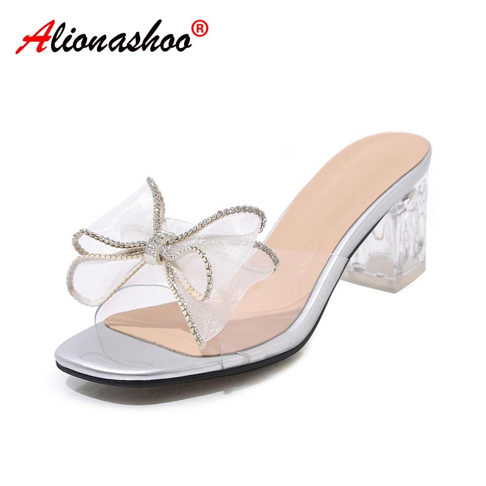 Summer Slippers Sandal Heels Platform Wedding-Shoes Black Large-Size Fine Nightclub