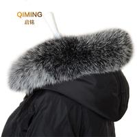 Real fox 70 / 80cm straight collar soft fur scarf collar warm winter women's real fox fur collar fox fur cap fur collar L18