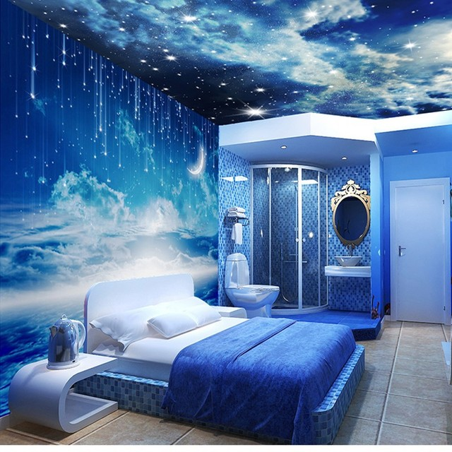 Us 9 3 38 Off Beibehang Star Photo Wallpaper 3d Stereo Personalized K Living Room Room Ceiling Wall Galaxy 3d Wallpaper Papel De Parede In
