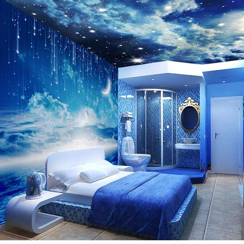 Beibehang Star Photo Wallpaper 3d Stereo Personalized K Living Room Room Ceiling Wall Galaxy 3d Wallpaper Papel De Parede Ceiling Floor Ceilwallpaper Texture Aliexpress