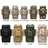 Large Capacity 65L Mens Outdoors Camping Tactical Travel Backpack Women Hiking Bag For Mountaineers Rain Cover