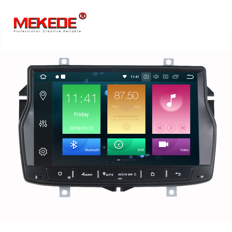 Russian menu free shipping 4G RAM 1din car radio multimedia DVD player for Lada vesta Android 8.0 Octa core with wifi BT GPS