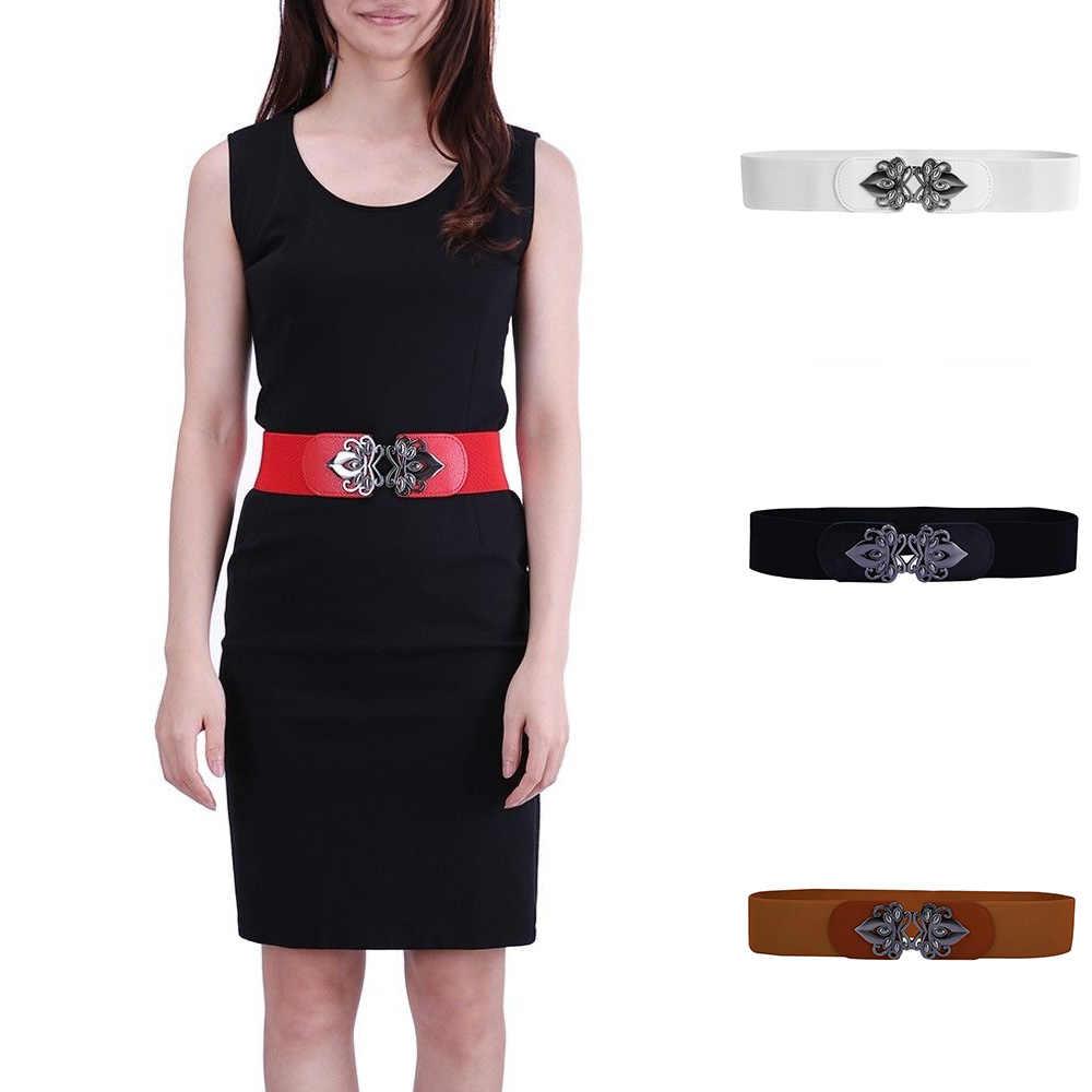 5b349129ba Women s loose stretch belt plus size vintage buckle stretch belt Women s  waistband