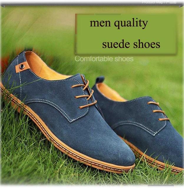 Homens de moda de camurça sapatos de couro sapatos de outono inverno quente sapatos Oxfords Flats sapatos casuais homens tênis