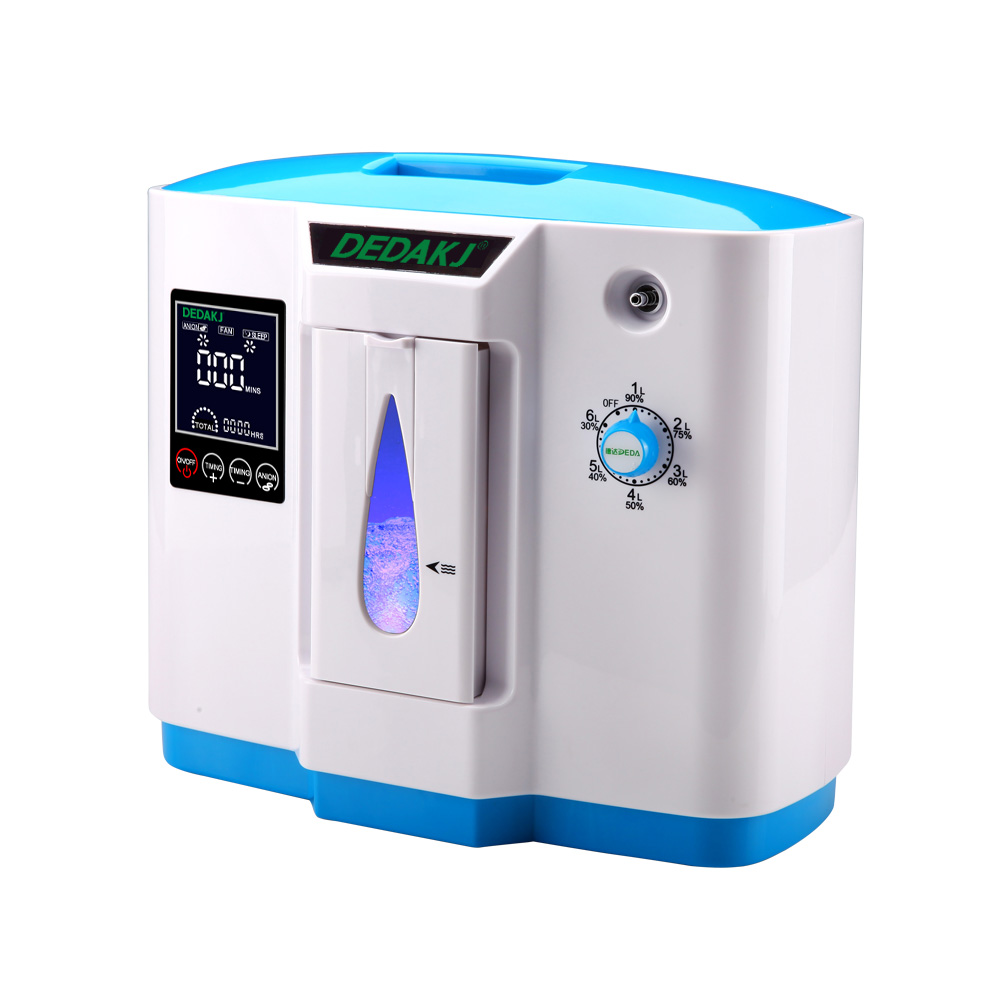 6L large Flow new type home use portable oxygen concentrator generator medical oxygen concentrator healthcare oxygen concentrator continuous flow mini oxygen generator for outdoor home medical use moveable o2 concentrator