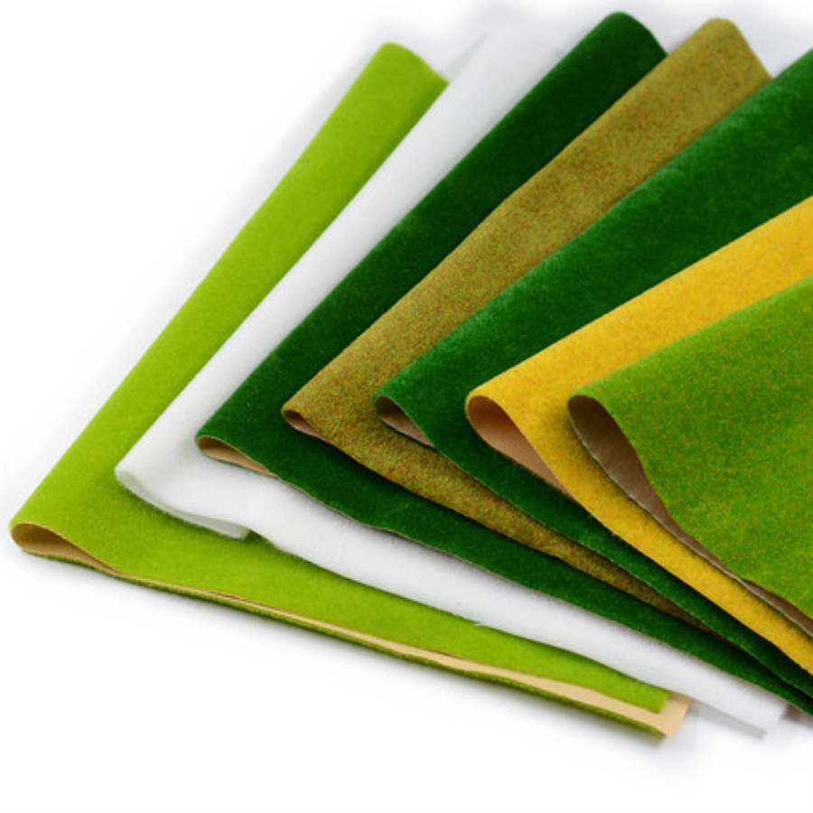 50*50cm Landscape Grass Mat For Model Train Building Paper Scenery Layout Lawn