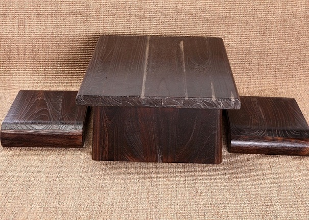 Japanese Antique Table Rectangle *cm Paulownia Wood Asian