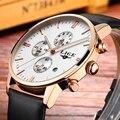 LIGE Marca Relojes hombres reloj de Cuarzo de cuero de moda de lujo casual hombres reloj deportivo reloj de Buceo del relogio masculino de negocios