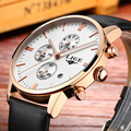 LIGE Marca de Relógios de luxo homens couro moda casual relógio de Quartzo homens esportes relógio negócio relógio de pulso de Mergulho relogio masculino