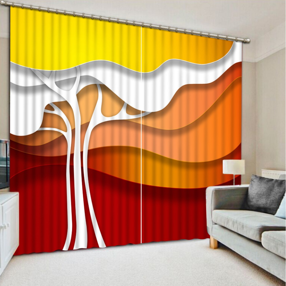 Home Decor Living Room Natural Art big tree Fashion 3D Home Decor Beautiful Curtains for living room in Curtains from Home Garden