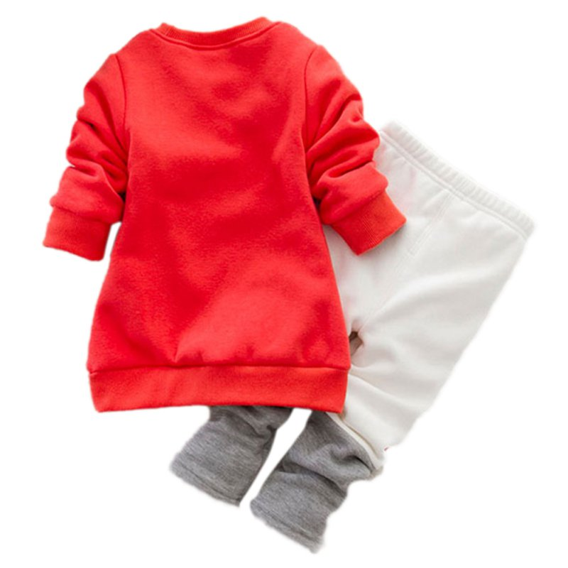 Winter-Cute-Boys-and-Girls-Thick-Velvet-Long-sleeved-Sweater-Suit-Small-Cartoon-Fox-Piece-X16-2