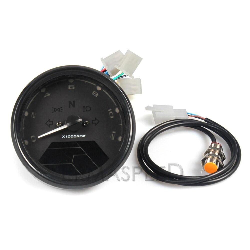 Image 3 - LCD Digital Motorcycle Speedometer Universal Waterproof 12000RPM 8  18V Gear Tachometer Meter Odometer For Yamaha nmax xmax  aeroxInstruments   -