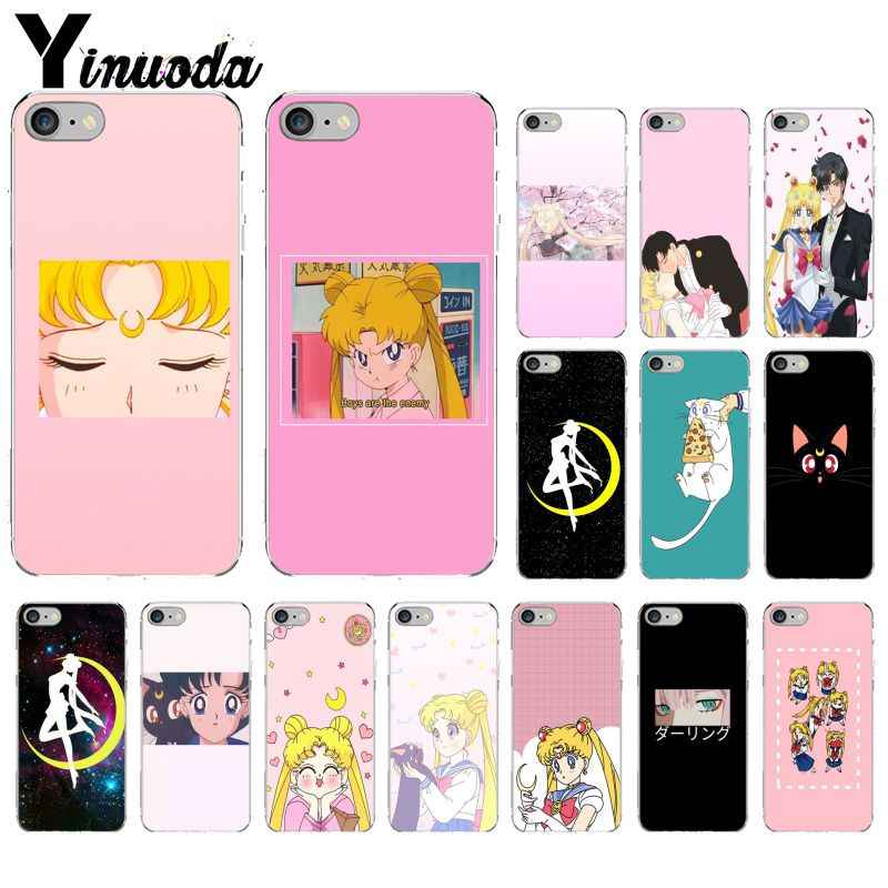 Yinuoda Sailor Moon cute Transparent TPU Soft Silicone Phone Cover for iPhone X XS MAX  6 6s 7 7plus 8 8Plus 5 5S SE XR