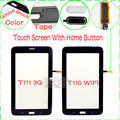 100% Test T110 T111 Touch For Samsung Galaxy Tab 3 Lite 7.0 T111 T110 Touch Screen Digitizer Glass Panel With Home Button