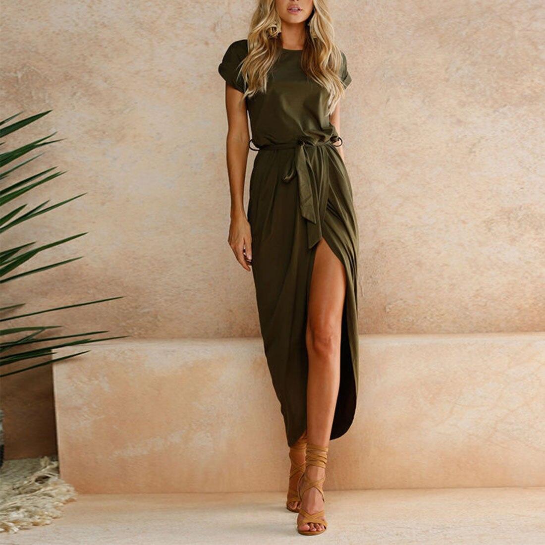 Comfortable 2017 Women Summer Sexy Fashion Boho Long Maxi Dress Party Beach Dresses Sundress