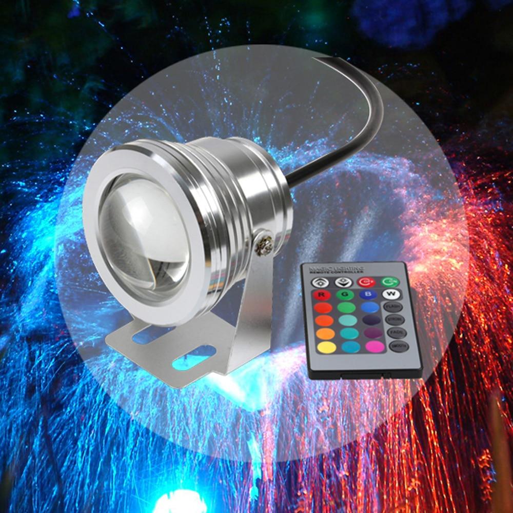 IP68 COB LED Υποβρύχια λάμπα προβολέων 12χρωμάτων 1000LM 10W DC12V RGB Λάμπα Λειτουργία Λειτουργίας Χρονοδιακόπτη Πισίνα Πισίνα Φωτισμός Ενυδρείο
