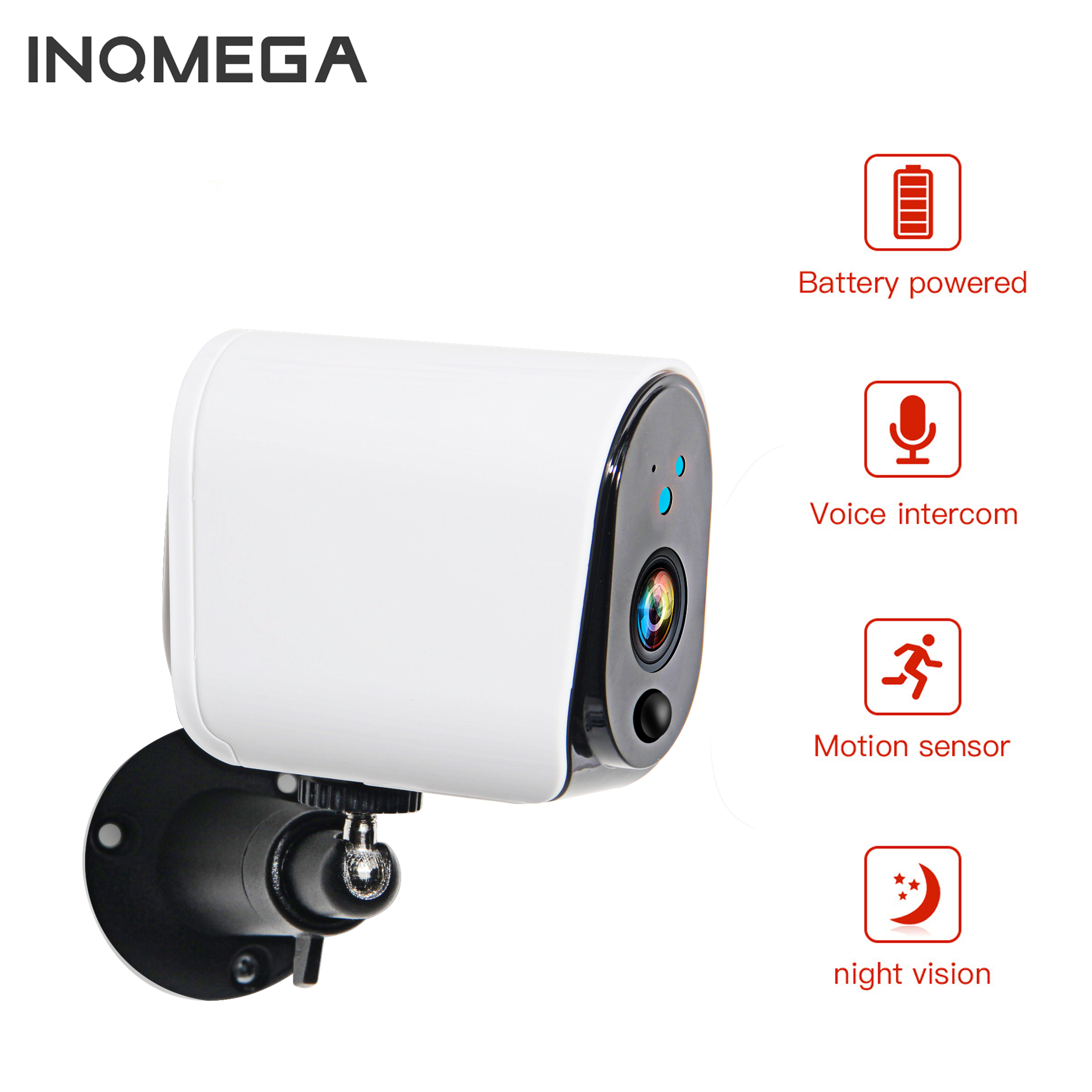 INQMEGA 100% Draht-Freies Outdoor Ip-kamera 1080P Drahtlose Überwachungs Kamera Home Security IP65 Wasserdichte Batterie WiFi IP kamera