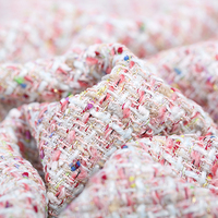 145 см шириной 400 г/м Вес трикотажные твид Красочные акрил, шерсть, полиэстер ткань для Осень и весна платье куртка E651