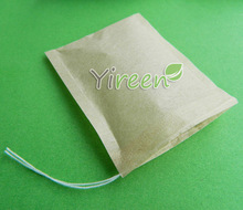 цена на Free shipping! 1000pcs/lot  60 X 80mm pulp color Filter paper, Empty tea bag, Single drawstring tea bag, Herbal bags-coffee bags