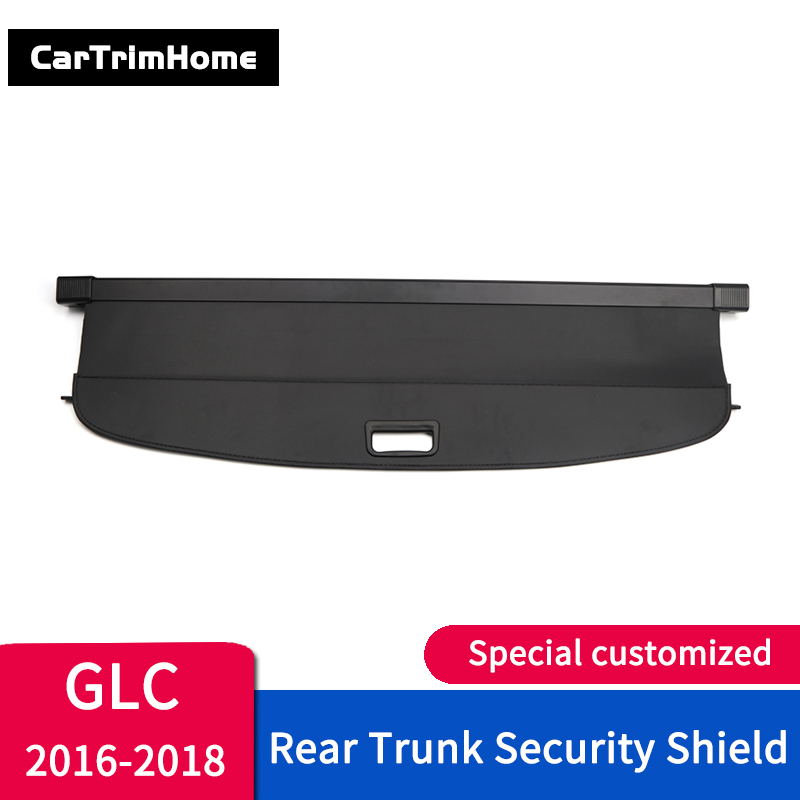 Accessories For Mercedes Benz GLC 2016 2017 2018 2019 Rear Cargo Cover Trunk Shield Security Cover Parcel Shelf car styling trim
