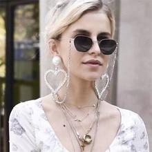 Ajojewel Exaggerated Earrings Big Rhinestone Heart Women Jewelry With Simulated Pearl