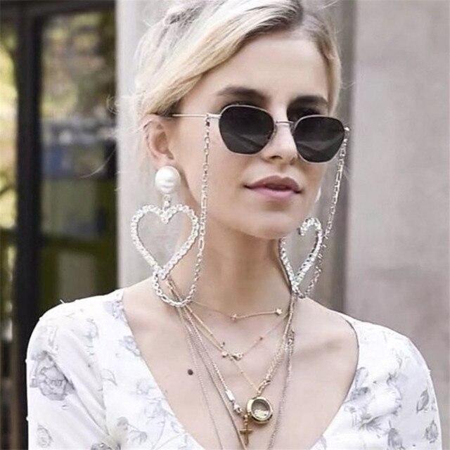 Ajojewel преувеличенные серьги с большим горным хрусталем сердце женские ювелирные изделия с имитацией жемчуга