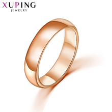 Xuping Fashion Elegant Rose Gold Color Plated Exquisite Ring for Women Wedding Jewelry Valentines Day Gift S33-11000