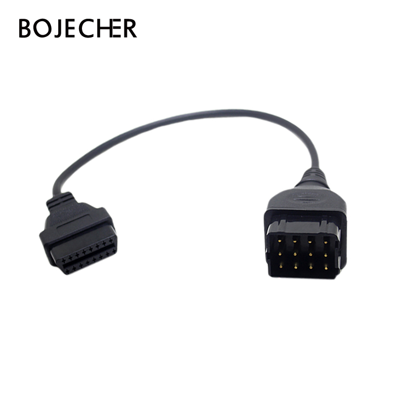 For Russia GAZ 12Pin To 16pin OBD2 Car Diagnostic-tool Adapter Cable For GAZ 12 Pin Russia Cars Cable Adapter