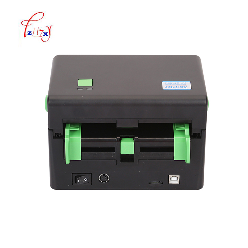 Express shipping label printer max width 108mm Qr code sticker printer thermal label barcode printer 1pc high quality thermal barcode printer electronic surface single printer max print width 108mm barcode printer shipping address