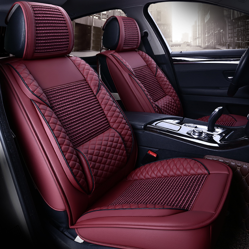 Summer Breathable Leather Seat Covers For Skoda Superb
