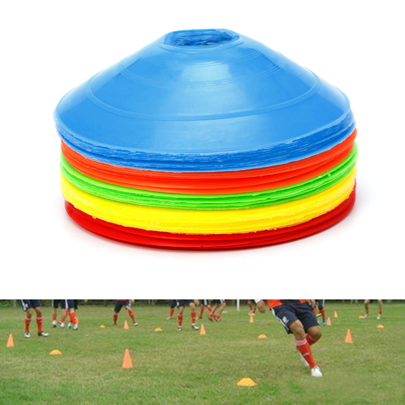 10pcs/lot 19cm Cones Marker Discs Soccer Football Training Sports Entertainment New